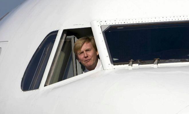 Rey Holandes co-piloto de KLM