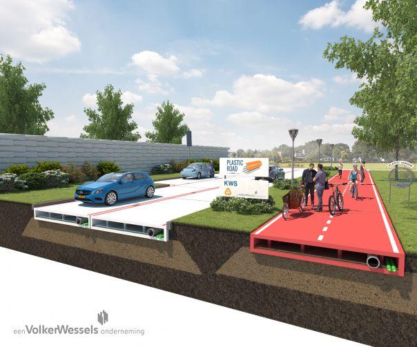 VolkerWessels contruirá una carretera de plástico en Países Bajos